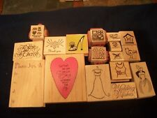 Lot Wedding Stampin Up Hero Arts Rubber Wood Stamps Crafts Stamping Scrapbooking