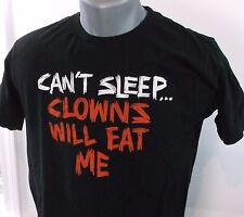 Men's Black Clowns will eat me T-shirt M Medium - Great Graphics 100% Cotton
