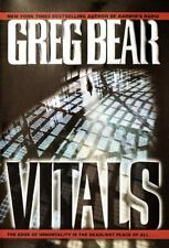 Vitals by Greg Bear (2002, Hardcover Book) Thriller ex-library