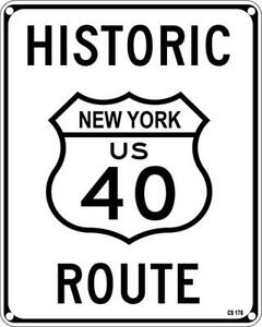 New York US 40 aluminium funny wall sign 255mm x 205mm (ss) REDUCED