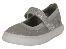 Polo Ralph Lauren Toddler Girl's Leyah Silver Glitter Mary Janes Shoes