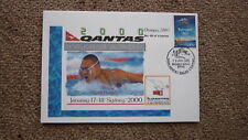 SYDNEY OLYMPIC SERIES TEST EVENT COVER, 2000 QANTAS SWIMMING WORLD CUP, HUEGILL