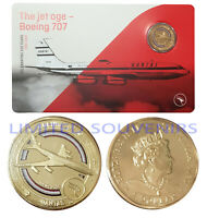 2020 $1 Qantas Centenary Coloured Coin Boeing 707 First Jet Aircraft NEW SEALED
