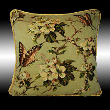 VINTAGE BUTTERFLY TAPESTRY BOTH SIDES THROW PILLOW CASE CUSHION COVER 17""