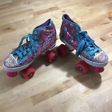 Sketchers Twinkle Toes Girls Roller Skates Size Women 4 Sequin Laced High Tops