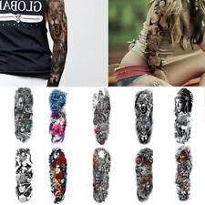 10sheets Fake Temporary Tattoo Sleeve Full Arm Tattoos Stickers waterproof  US