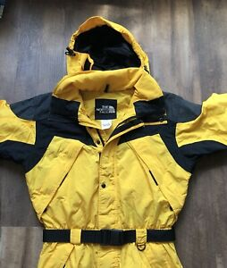 The North Face Extreme Light Color Block Ski Snow Suit Sz Medium Yellow