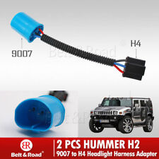2x 9007 Male to H4 Female Headlight Adapter Harness For Hummer H2 9007 connector