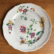 Assiette Ancienne Porcelaine Chine Céladon Fleurs  - China Plate Flowers