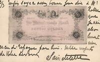 1902 VINTAGE NETHERLANDS 60 GULDEN BANKNOTE POSTCARD - Red 5c Netherlands Stamp