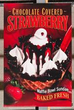 Dairy Queen Promotional Poster For Backlit Menu Sign Strawberry Waffle Bowl dq2