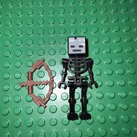 LEGO® Figur Minecraft Nether Skelett Schwarz Groß Mit Bogen!