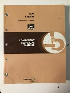 John Deere 6076 Engine Service/Shop Technical Manual JD 4055 4255 4455+ Tractor