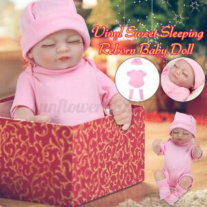 11'' Handmade newborn Doll Girl Baby Lifelike Newborn Dolls Full Body Vinyl Toy