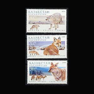 Kazakhstan, Sc #280-82, MNH, 1999, Foxes, Animals, GID-9