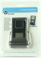 "NEW Desk Clock Digital Picture Frame Vuescape 1.4""  Stores up to 70 Photos NICE"