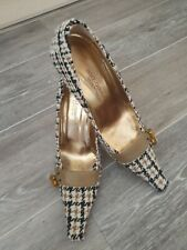VINTAGE DOLCE & GABBANA VERO CUOIO Tweed/Wool SHOES  Size 39