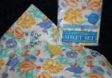 vintage floral sheets double bed pair +slips CAMEO all cotton retro flower power