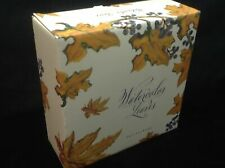 Pottery Barn Watercolor Autumn Leaves Salad Plates S/ 8 #5020