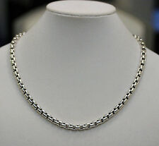 "DAVID YURMAN NEW Mens High Polish Sterling Silver 8mm Box Chain Necklace 22"""