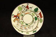 "Vtg Wedgwood Bone China Hunting Scene Fox Hunt 4.75"" Demitasse Saucer Plate #306"