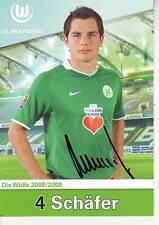 FOOTBALL carte joueur MARCEL SCHAFER équipe VfL WOLFSBURG signée