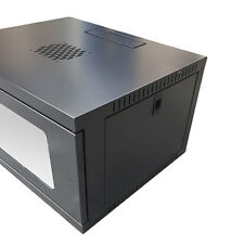 """6U Wall Mount IT Network Server Data Cabinet Enclosure Rack Glass Door 18"""" Deep"""