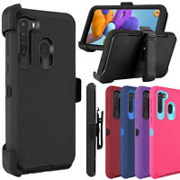 For Samsung Galaxy A01,A11,A21 Case,Shockproof Defend Belt Clip Holster Cover