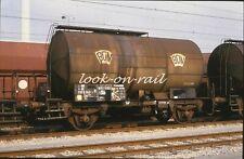 N1204 - Dia slide 35mm original Eisenbahn Holland, NS BON Kesselwagen, '80s