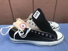 RARE NEW CONVERSE ALL STAR CT MEN'S US 11 VINTAGE LOW MADE IN USA BLACK SHOES A7