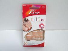 KISS FRENCH GLUE ON TOE NAILS SHORT LENGTH 30 CT 00807 TN01 BERMUDA TOENALS