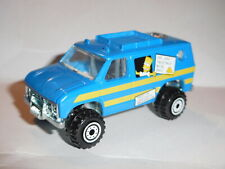 HOT WHEELS SIMPSONS BLUE VAN BART LISA VIEW FINDER IN BACK