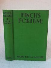 Mazo De La Roche  FINCH'S FORTUNE  1931 HC Grosset & Dunlap, NY