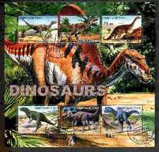 Dinosaur Wild Animals Kyrgyzstan M/S of 6 stamps