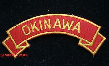 OKINAWA JAPAN TAB HAT PATCH USMC US MARINES VETERAN PIN UP USS FMF MAW GIFT WOW