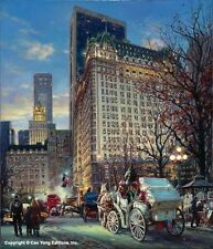 """Cao Yong """"The Heartbeat of NY"""" CANVAS AP w/COA Embellished  36 X 31"""