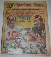 The Sporting News Magazine Super Bowl XVI Browns & 49ers January 1982 011215R
