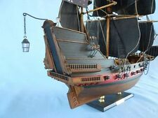 Wooden Pirate Ship Model Tall Ship Blackbeard's Queen Anne's Revenge