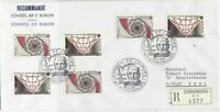 France Council of Europe Strasbourg Special Regd Slogan Stamps Cover Ref 31059
