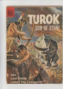 Turok #10 G 1957 Dell comic cvr stapled on