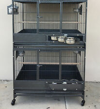 "LARGE 36"" Double Stackers Breeding Breeder Bird Parrot Wrought Iron Cage 249"