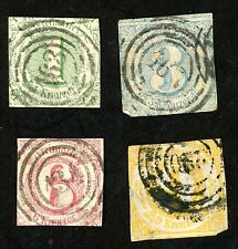 1859 Germany Thurn and Taxis Stamps Scott #47-50   All: Used H