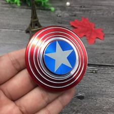 Cool Captain America Spiral Fidget Hand Spinner Ceramic Bearing Adult #G