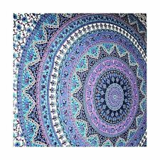 Purple Elephant Mandala Tapestry Wall Hanging Indian Hippie Tap... Free Shipping