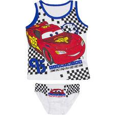 NUEVO ropa interior 2 piezas Juego Chicos Camisa SLIP Disney Cars 92-98 104-110