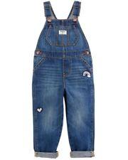 OSHKOSH Toddler Girls Rainbow Patch Denim Overalls -...