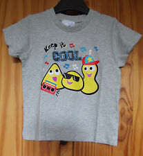 CBeebies Size 2-3 years BBC Keep It Cool Grey Marl Cotton T-Shirt