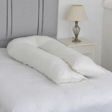 Large U Shape Body Support Pillow with FREE Ivory Pillowcase Fibromyalgia Aid