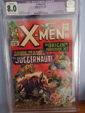X-MEN #12 CGC 8.0  JUGGERNAUT 1ST APPEARANCE  1965 JACK KIRBY