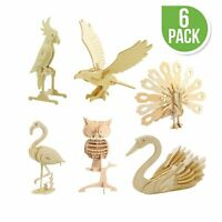 Hands Craft 3D Puzzle 6 Assorted Pieces Bird Animals Puzzle Set